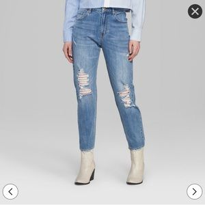 Wild Fable High-Rise Distressed Mom Jean